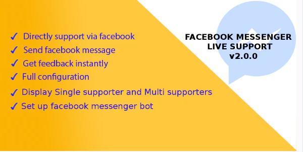 Facebook Messenger Live Support