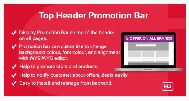 Top Header Promotion Bar